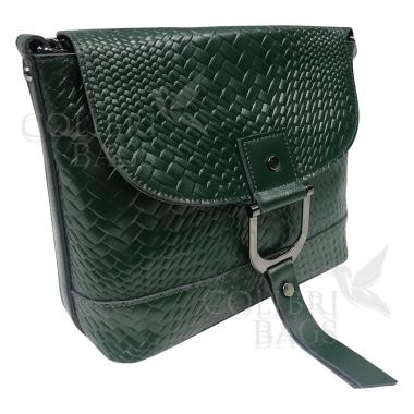 Женская кожаная сумка Venecia. Темно-зеленый