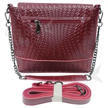 Женская кожаная сумка Venecia. Ежевичный