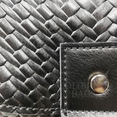 Женская кожаная сумка Venecia. Черный