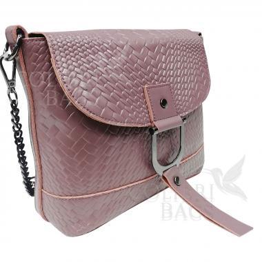 Женская кожаная сумка Venecia. Лиловый