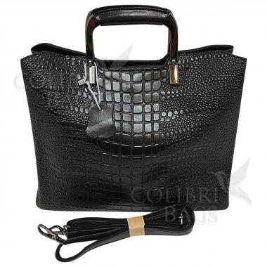 Женская кожаная сумка Vermont. Черный