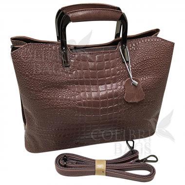 Женская кожаная сумка Vermont. Лиловый