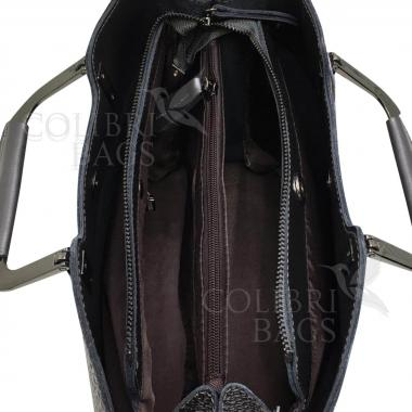 Женская кожаная сумка Vermont. Кофе жемчужный