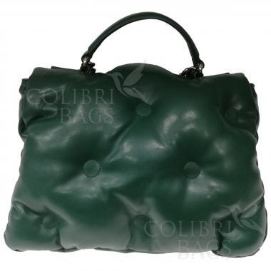 Женская стеганая сумка XINTY. Темно-зеленый.