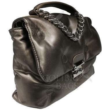 Женская стеганая сумка XINTY. Бронза.