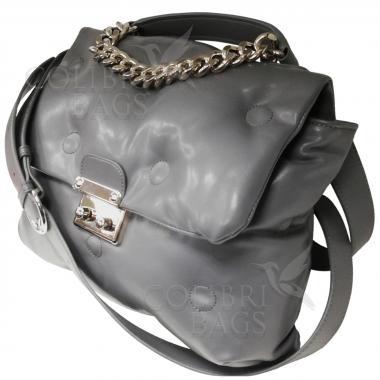 Женская стеганая сумка XINTY. Дымчатый.