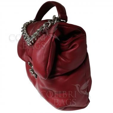 Женская стеганая сумка XINTY. Гранат.