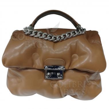 Женская стеганая сумка XINTY. Песочный.