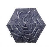 Зонт ZZH-0091 Газета. Темно-синий